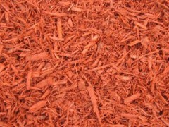 Red Mulch - Color Enhanced Wood Chips